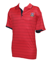 SACA Mens Red Button Up Polo shirt
