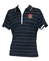 SACA Ladies Navy Zip Up Polo shirt